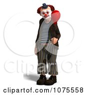 Clipart 3d Clown With A Balloon 2 Royalty Free CGI Illustration by Ralf61