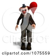 Clipart 3d Clown With A Balloon 3 Royalty Free CGI Illustration by Ralf61