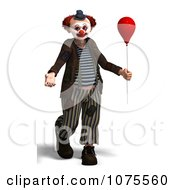 Clipart 3d Clown With A Balloon 4 Royalty Free CGI Illustration by Ralf61