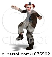 Clipart 3d Clown Dancing 1 Royalty Free CGI Illustration by Ralf61