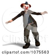 Clipart 3d Clown Dancing 2 Royalty Free CGI Illustration by Ralf61