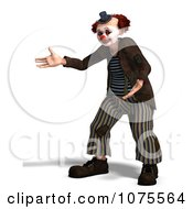 Clipart 3d Clown Presenting Royalty Free CGI Illustration by Ralf61