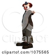Clipart 3d Clown Pointing Royalty Free CGI Illustration by Ralf61