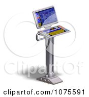 Clipart 3d Server Rack Control Computer 1 Royalty Free CGI Illustration