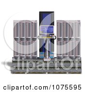 Clipart 3d Server Racks 15 Royalty Free CGI Illustration