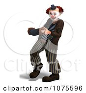 Clipart 3d Clown With An Accordion 3 Royalty Free CGI Illustration