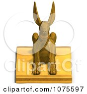 Clipart 3d Golden Jackal Statue 2 Royalty Free CGI Illustration by Ralf61