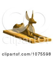 Clipart 3d Golden Jackal Statue 3 Royalty Free CGI Illustration by Ralf61