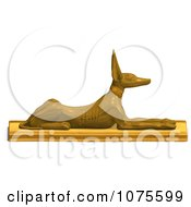 Clipart 3d Golden Jackal Statue 1 Royalty Free CGI Illustration by Ralf61