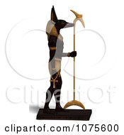 Clipart 3d Anubis Statue Facing Right Royalty Free CGI Illustration by Ralf61