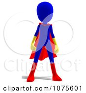Clipart 3d Blue Super Hero Person Royalty Free CGI Illustration by Ralf61