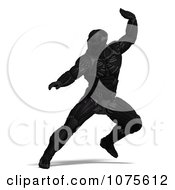 Clipart 3d Futuristic Super Hero In A Black Nanosuit 1 Royalty Free CGI Illustration by Ralf61