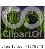 Clipart 3d Futuristic Super Hero In A Black Nanosuit In Grass Royalty Free CGI Illustration by Ralf61