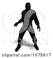 Clipart 3d Futuristic Super Hero In A Black Nanosuit 7 Royalty Free CGI Illustration by Ralf61