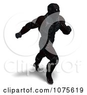 Clipart 3d Futuristic Super Hero In A Black Nanosuit 6 Royalty Free CGI Illustration by Ralf61