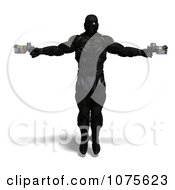 Clipart 3d Futuristic Super Hero Shooting In A Black Nanosuit 6 Royalty Free CGI Illustration by Ralf61