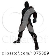 Clipart 3d Futuristic Super Hero In A Black Nanosuit 8 Royalty Free CGI Illustration by Ralf61