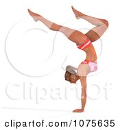 Clipart 3d Health Fit And Strong Athletic Woman Doing A Handstand 2 Royalty Free CGI Illustration by Ralf61