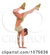 Clipart 3d Health Fit And Strong Athletic Woman Doing A Handstand 1 Royalty Free CGI Illustration by Ralf61