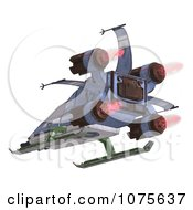 Clipart 3d Robot Spaceship 8 Royalty Free CGI Illustration