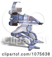 Clipart 3d Robot Spaceship 7 Royalty Free CGI Illustration by Ralf61