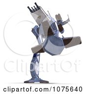 Clipart 3d Robot Spaceship 6 Royalty Free CGI Illustration by Ralf61