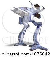 Clipart 3d Robot Spaceship 3 Royalty Free CGI Illustration by Ralf61