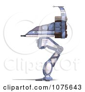 Clipart 3d Robot Spaceship 2 Royalty Free CGI Illustration by Ralf61