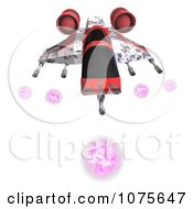 Clipart 3d Space Rocket Jet 11 Royalty Free CGI Illustration by Ralf61