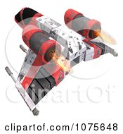 Clipart 3d Space Rocket Jet 10 Royalty Free CGI Illustration by Ralf61
