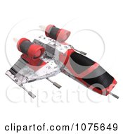 Clipart 3d Space Rocket Jet 9 Royalty Free CGI Illustration by Ralf61
