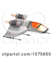 Clipart 3d Space Rocket Jet 7 Royalty Free CGI Illustration by Ralf61