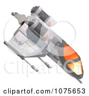 Clipart 3d Space Rocket Jet 5 Royalty Free CGI Illustration by Ralf61