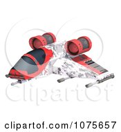 Clipart 3d Space Rocket Jet 1 Royalty Free CGI Illustration by Ralf61