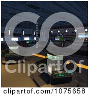 Clipart 3d Futuristic Command Spacecraft Interior 6 Royalty Free CGI Illustration by Ralf61
