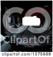 Clipart 3d Futuristic Spacecraft Corridor Interior 14 Royalty Free CGI Illustration