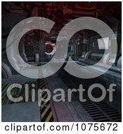 Clipart 3d Futuristic Spacecraft Corridor Interior 12 Royalty Free CGI Illustration