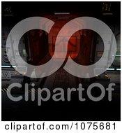 Clipart 3d Futuristic Spacecraft Corridor Interior 2 Royalty Free CGI Illustration