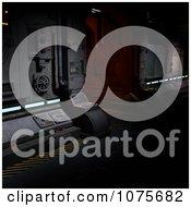 Clipart 3d Futuristic Spacecraft Corridor Interior 1 Royalty Free CGI Illustration