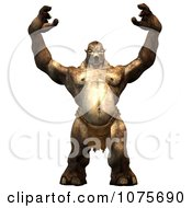 Clipart 3d Troll Holding His Arms Up Royalty Free CGI Illustration by Ralf61