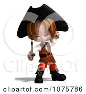 Clipart 3d Pirate Boy Holding A Sword 2 Royalty Free CGI Illustration by Ralf61