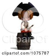 Clipart 3d Pirate Boy Sitting On A Barrel Royalty Free CGI Illustration by Ralf61