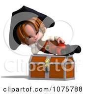 Clipart 3d Pirate Boy On A Chest 1 Royalty Free CGI Illustration by Ralf61