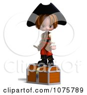 Clipart 3d Pirate Boy On A Chest 2 Royalty Free CGI Illustration by Ralf61