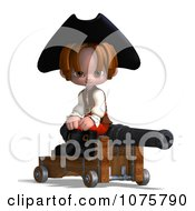Clipart 3d Pirate Boy Sitting By A Cannon Royalty Free CGI Illustration by Ralf61