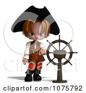 Clipart 3d Pirate Boy By A Helm - Royalty Free CGI Illustration by Ralf61 #COLLC1075792-0172