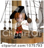 Clipart 3d Pirate Boy On A Ship Royalty Free CGI Illustration by Ralf61