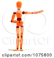 Clipart 3d Orange Mannequin Presenting 2 Royalty Free CGI Illustration by Ralf61