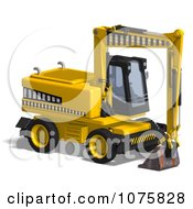 Clipart 3d Earth Mover Excavator 1 Royalty Free CGI Illustration by Ralf61