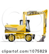 Clipart 3d Earth Mover Excavator 2 Royalty Free CGI Illustration by Ralf61